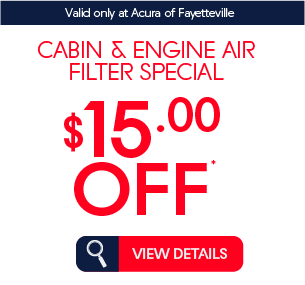 cabin and engine air filter special $15 off* view details