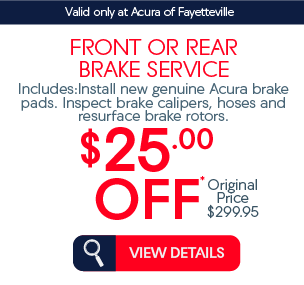 front or rear brake service $25 off* view details