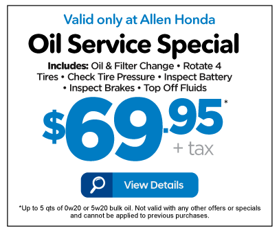 Oil Service Special $69.95 - View Details