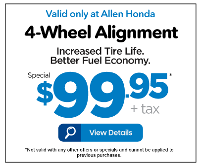 4-Wheel Alignment Special $99.95 - View Details