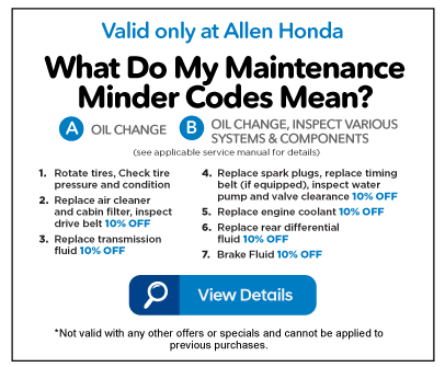 What Do My Maintenance Minder Codes Mean? - View Details