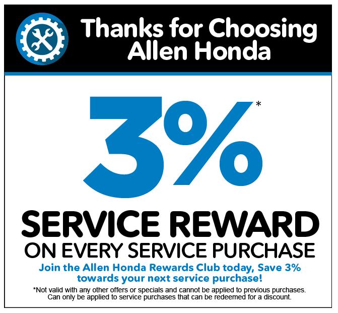 Thanks for choosing Allen Honda