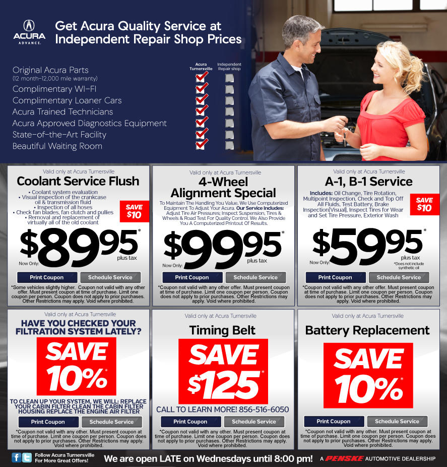 Acura Service Coupons Nj Mm Coupon Code - Acura dealer service coupons