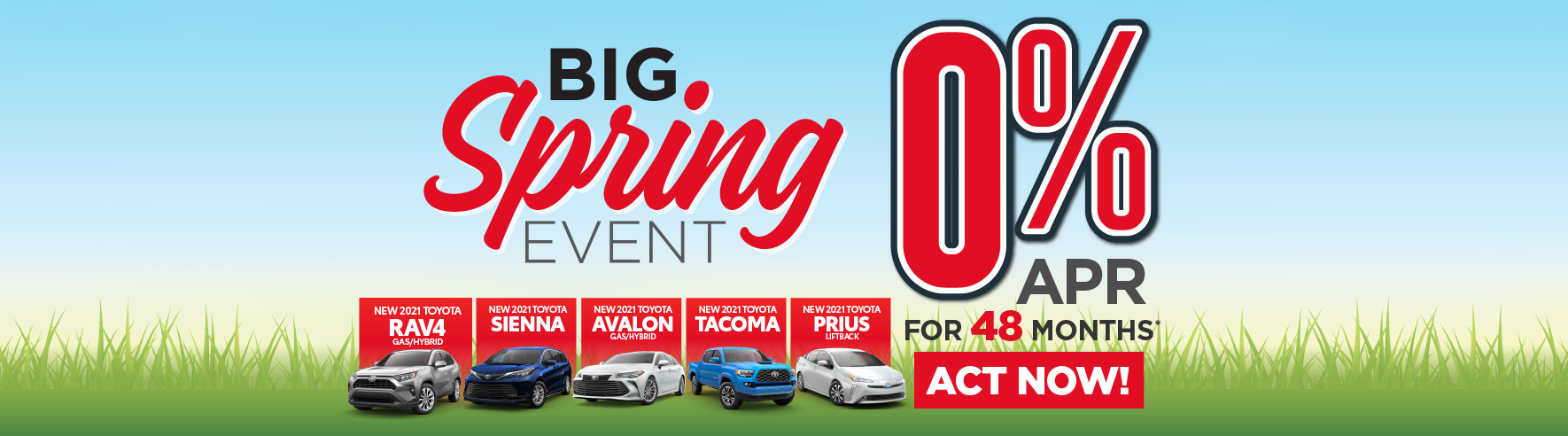 New 2020 Toyota Rav4 and Camry 0% APR for 60 months - ACT NOW