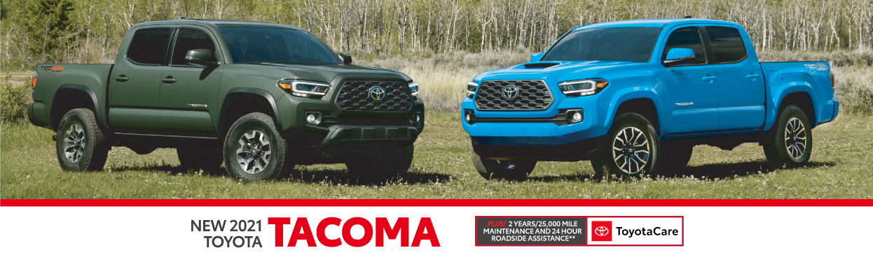 2021 Toyota Tacoma 2.9% APR offer for 60 months - click here to view inventory