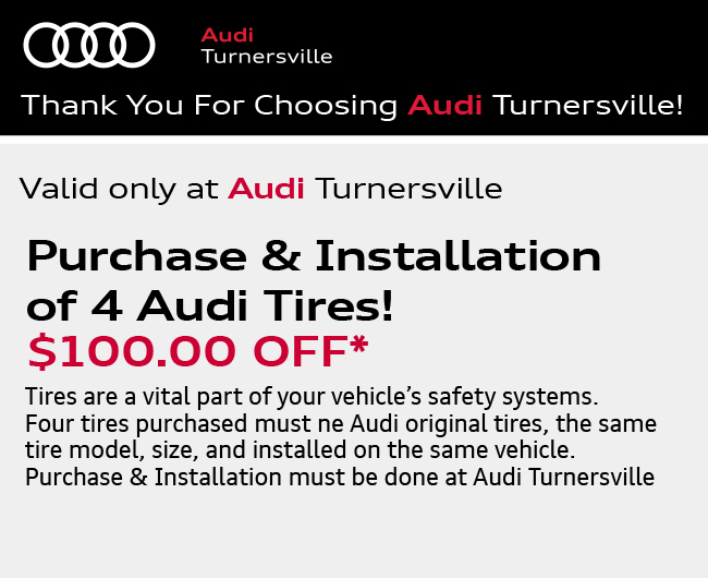Valid only at Audi Turnersville. Complimentary Multi-Point Inspection FREE.*