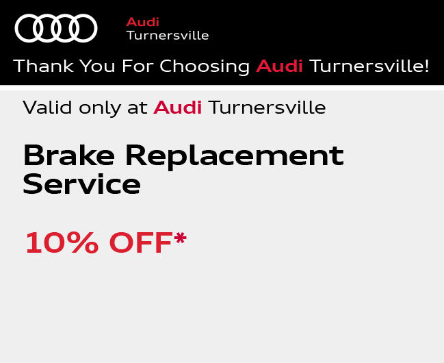 Valid only at Audi Turnersville. Wiper Blade SpecialSave 20%. For clearer vision ahead and behind, get Audi Genuine Wiper Blades for front and/or rear windows. Quality, safety and savings are our main priority.