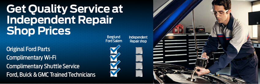 Get Quality Service at Independent Repair Shop Prices at Berglund FORD SALEM