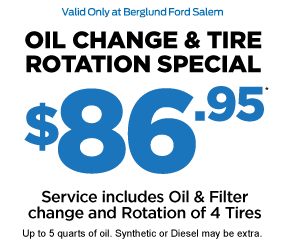 OIL CHANGE and TIRE ROTATION SPECIAL $39.95*
