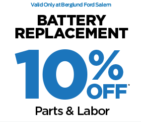 Battery replacement 10% off parts and labor*