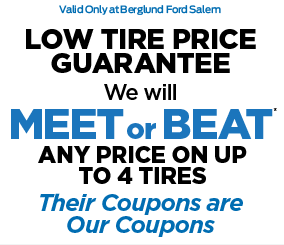 LOW TIRE PRICE GUARANTEE. We will MEET or BEAT* ANY PRICE ON UP TO 4 TIRES Their Coupons are Our Coupons