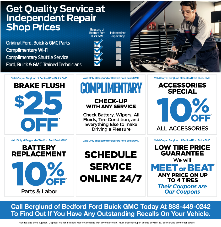 auto service and auto service specials at berglund va
