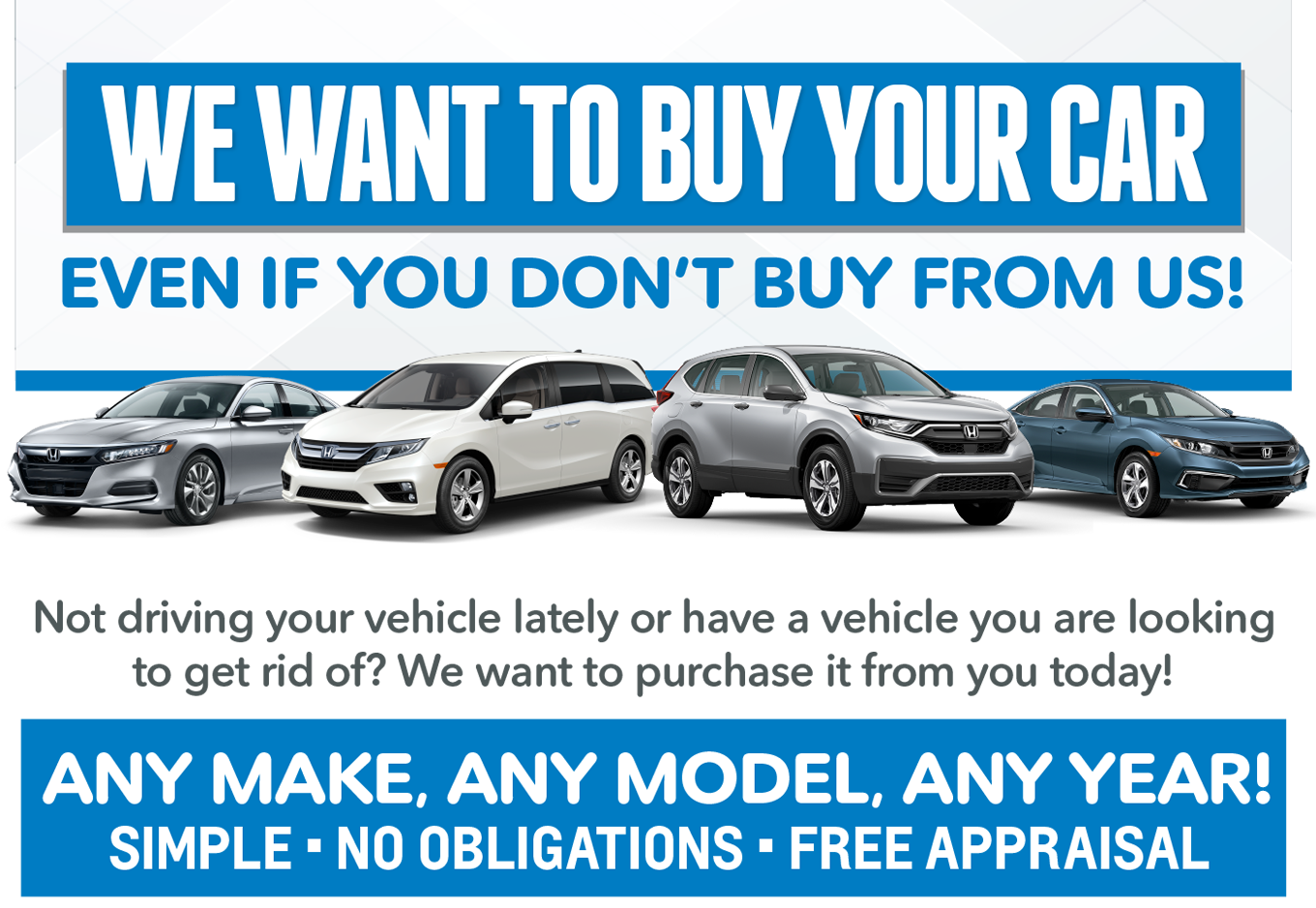 We Want to Buy Your Car at Brannon Honda