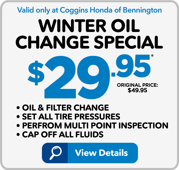 Winter Oil Change Special - $29.95 - View Details