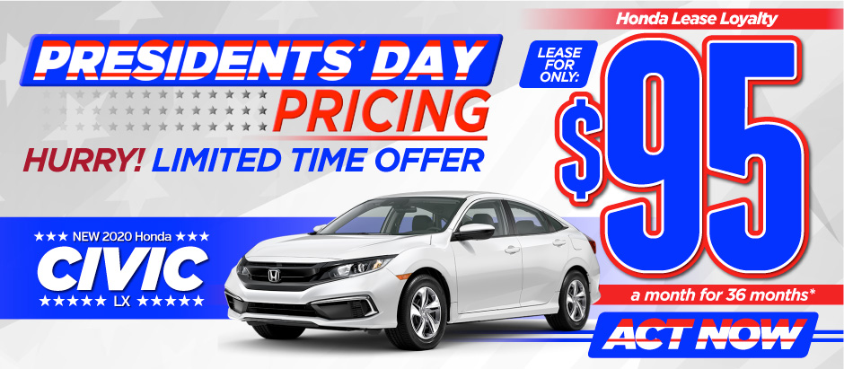 New 2020 Honda Civic - Only $95 a month for 36 months - Act Now