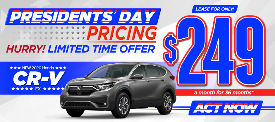 New 2020 Honda CR-V - Only $249 a month for 36 months - Act Now