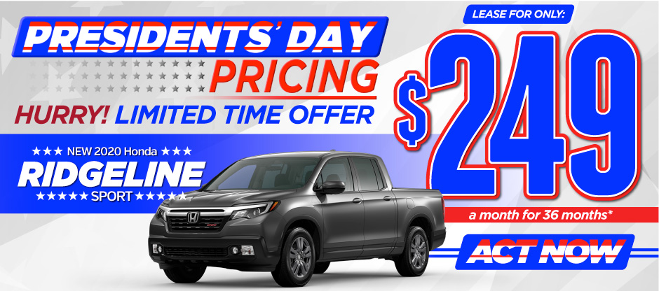 New 2020 Honda Ridgeline - Only $249 a month for 36 months - Act Now