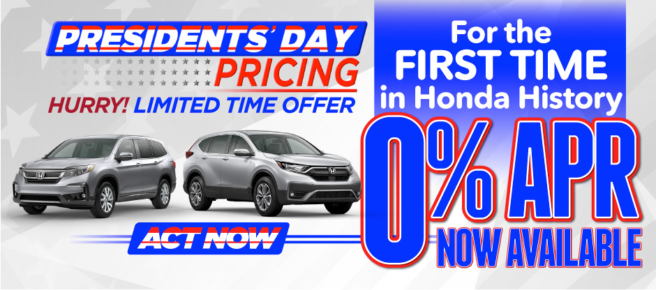 0% APR Now Available - Act Now