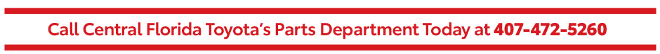 Parts Specials at Central Florida Toyota - Click here to contact us