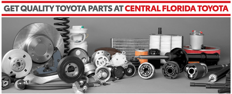 Get your Toyota Parts at Central Florida Toyota