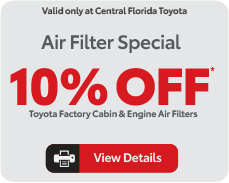 Parts Specials at Central Florida Toyota - Click here to see offer