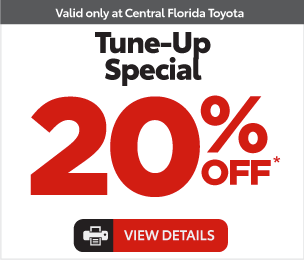Service Specials at Central Florida Toyota - Tune up special 20% Off* View Details