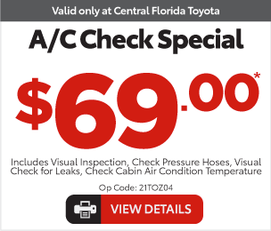 Service Specials at Central Florida Toyota - Coolant Service $99.95* Special View Details