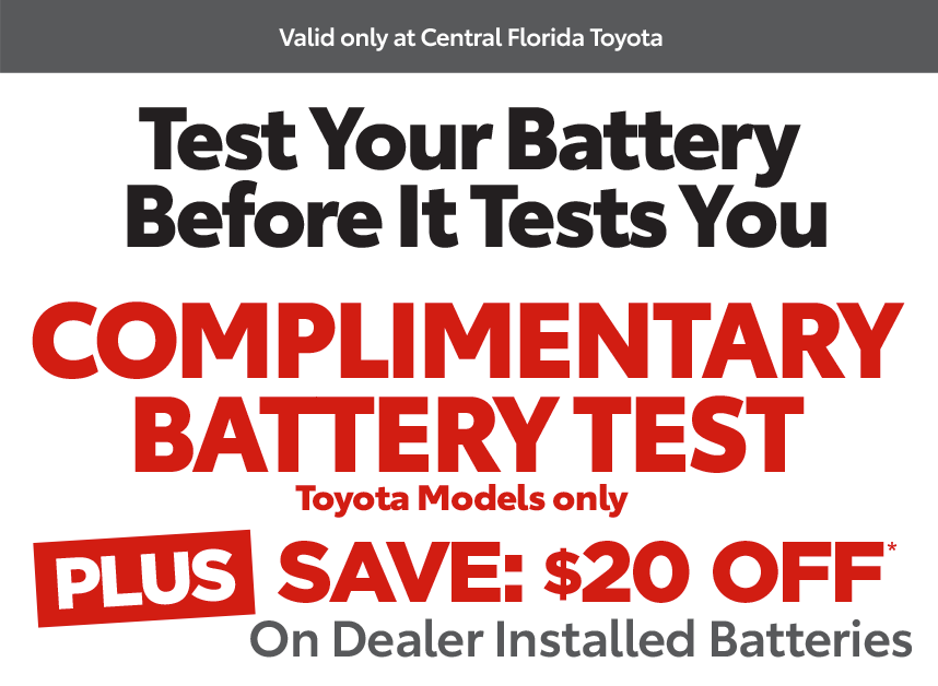Central Florida Service Coupon - complimentary battery test special