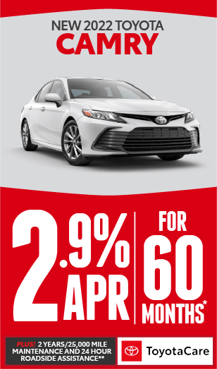toyota camry APR offer* plus no payment for 90 days***