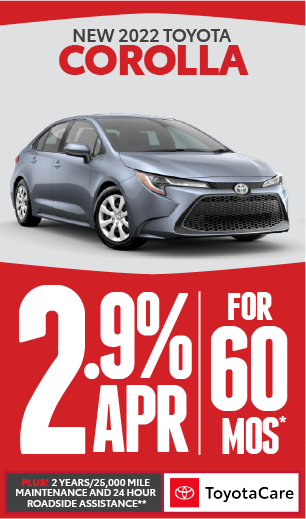 toyota corolla APR offer and No Payment for 90 days***