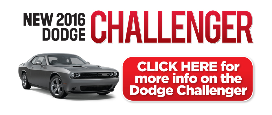 2016 Dodge Challenger Special. Click here to take advantage of this offer.