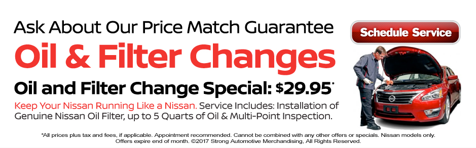 Chris Myers Nissan's Oil & Filter Changes