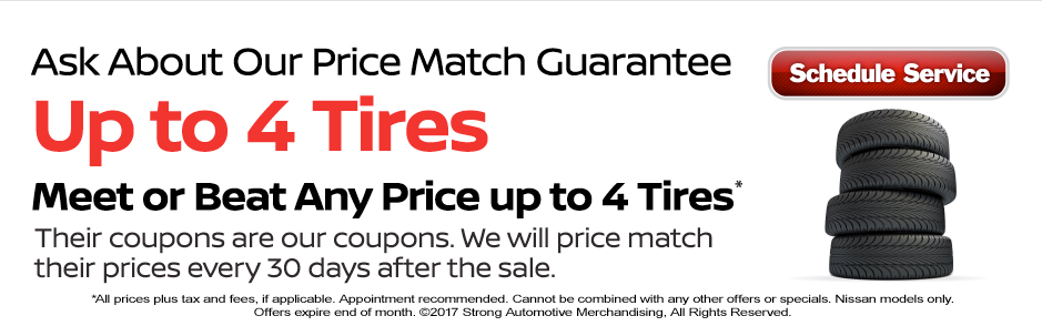 Meet or Beat any price up to 4 Tires!