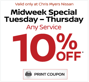 Chris Myers Nissan Service Special - Click Here
