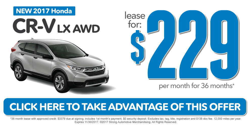 CR-V Special. Click Here to take advantage of this offer.