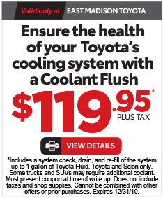 Service Specials at East Madison Toyota - Click here to see offer