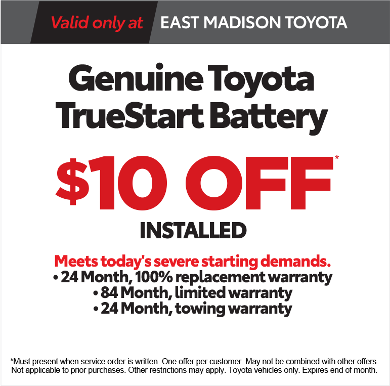 East Madison Toyota Service Coupon - Print
