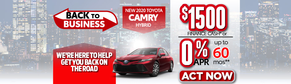 check out the Camry Hybrid offer at east madison toyota $1500 Finance Cash - click here to view inventory