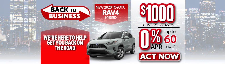 check out the RAV4 offer at east madison toyota $1000 Customer Cash - click here to view inventory