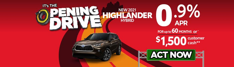 check out the Highlander offer at east madison toyota 2.9% APR up to 60 months - click here to view inventory