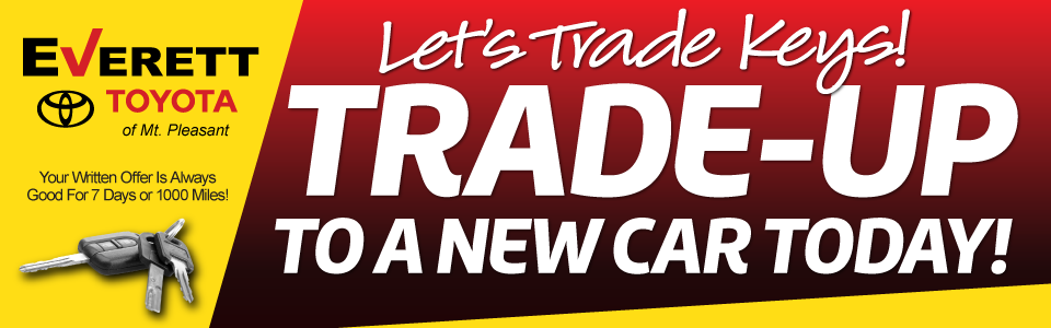 Let's Trade Keys! Trade-up to a new car today!