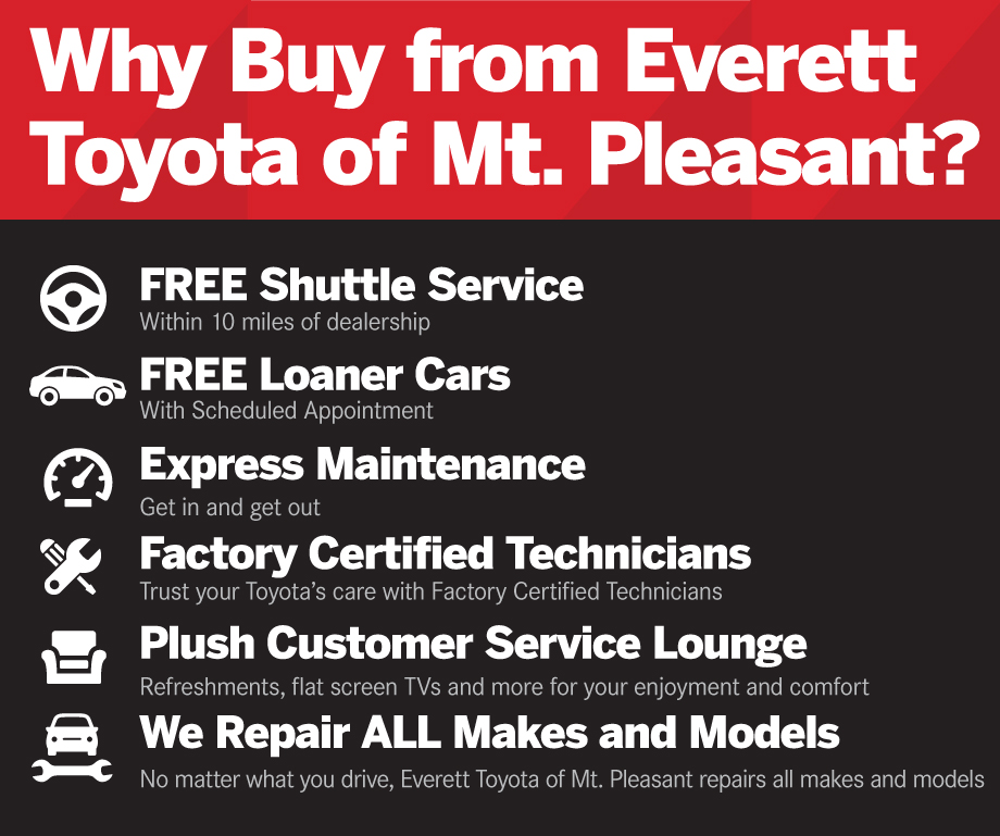 Why Buy from Everett Toyota of Mt. Pleasant?