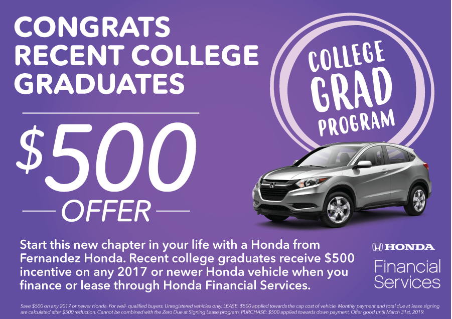 What Will I Need To Claim This Honda College Graduate Program?