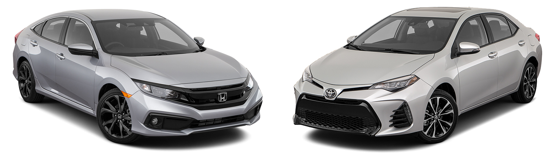 2019 Honda Civic vs. 2019 Toyota Corolla