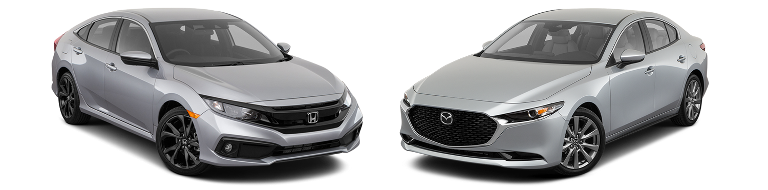 2019 Honda Civic vs. 2019 Mazda Mazda3
