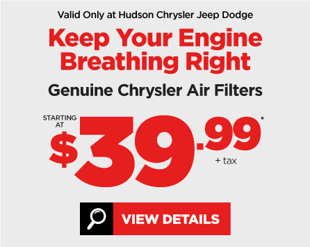 Chrysler Genuine Air Filter Special - View Details