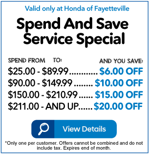 Spend and Save Service Special
