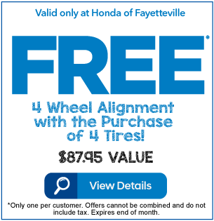 Free 4 Wheel Alignment with the purchase of 4 Tires