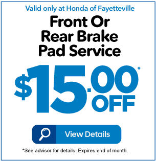 Front or Rear Brake Pad Service $15 Off