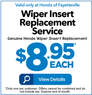 Wiper Insert Replacement Service $8.95 each